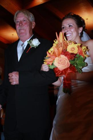 At my wedding - October 3, 2009