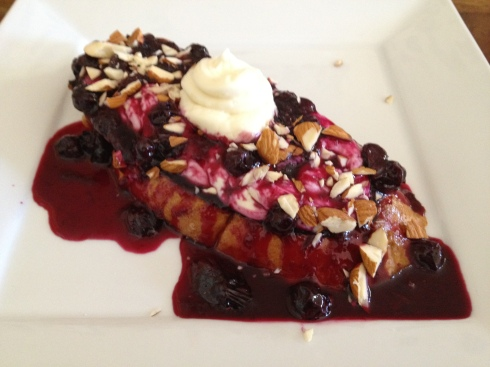 Blueberry Cream French Toast – Shane made this Sunday morning!